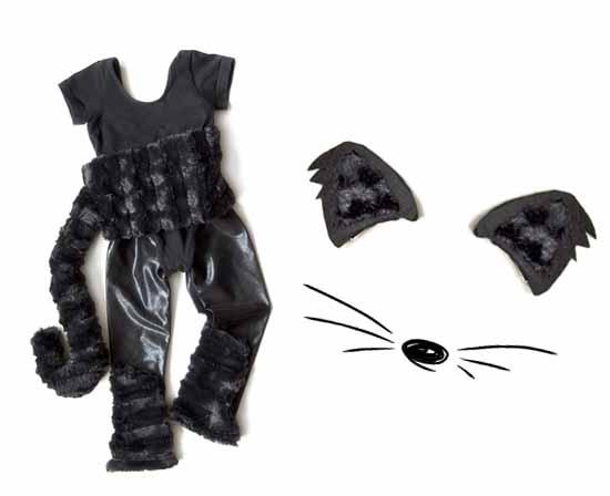 Easy Homemade Handmade Halloween Costume Toddler Girls Black Cat  sc 1 st  Small for Big & Quick Handmade Halloween Costumes u2013 Toddler Girls Black Cat Costume ...