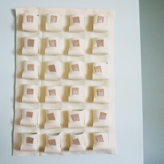 How to make an Advent Calendar – Handmade DIY Felt Wall Pockets ...