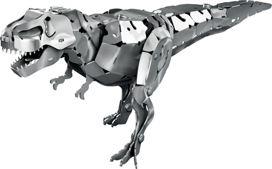 diy dinosaur assembly puzzle kit in aluminum