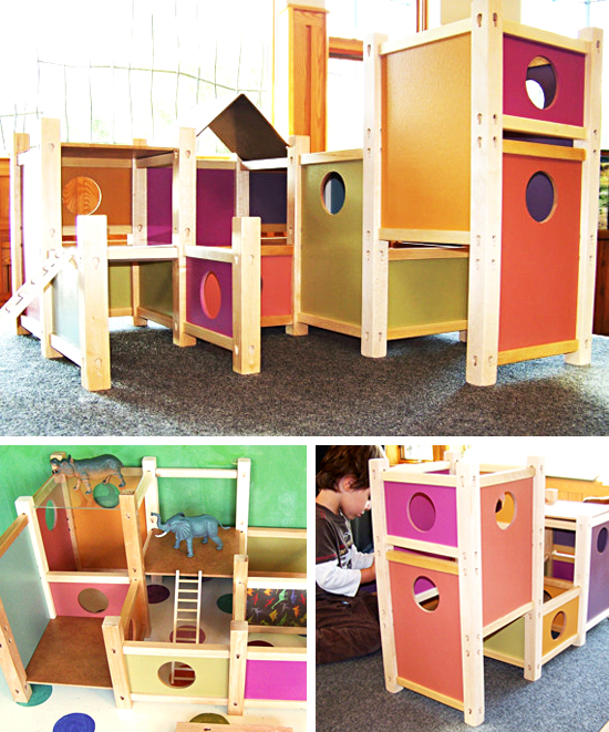 MOD Playhouse modern wooden dollhouse toy house for boys and girls