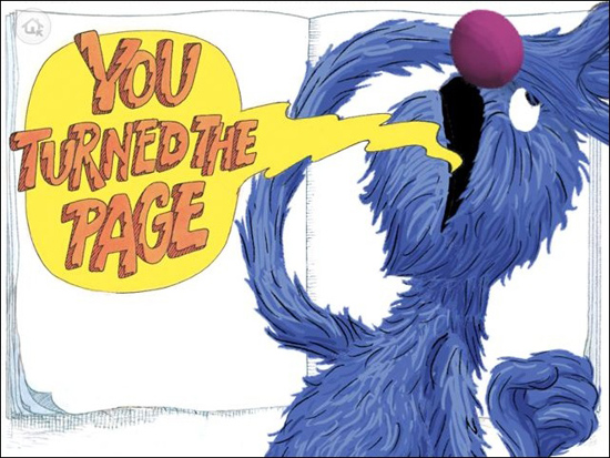 Grover Sesame Street Monster at the End of this Book iPad iPhone App