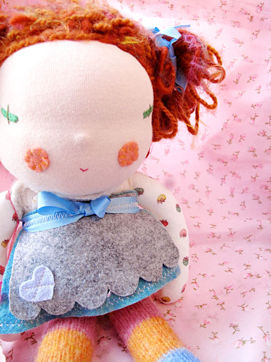 Prudence handmade upcycled waldorf dolls on etsy