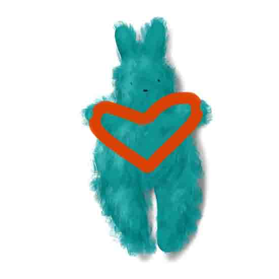 Valentine's Day Bunny illustration, free Valentine's last-minute Printables and Gift Ideas