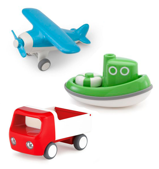Kid O newest introductions to modern toys - airplanes, tugboats, bath toys