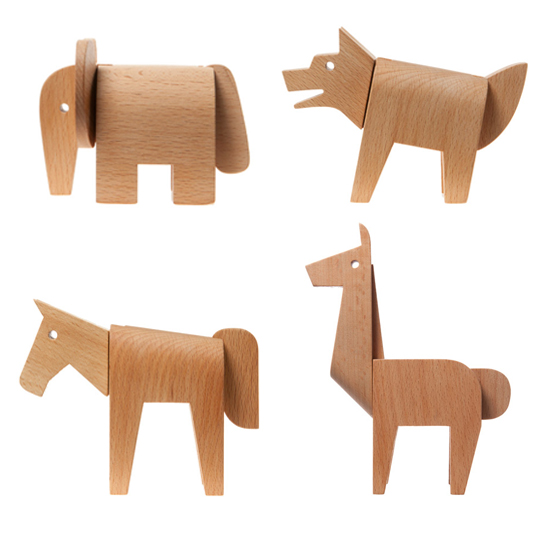 areaware dovetail modern wood puzzle animals