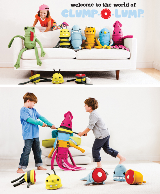 New quirky Clump-o-Lump stuffed animals are mix and match buildable, customizable stuffed animal friends
