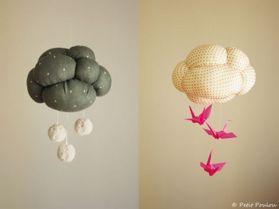 Handmade Charlotte DIY Cloud Mobile Craft project