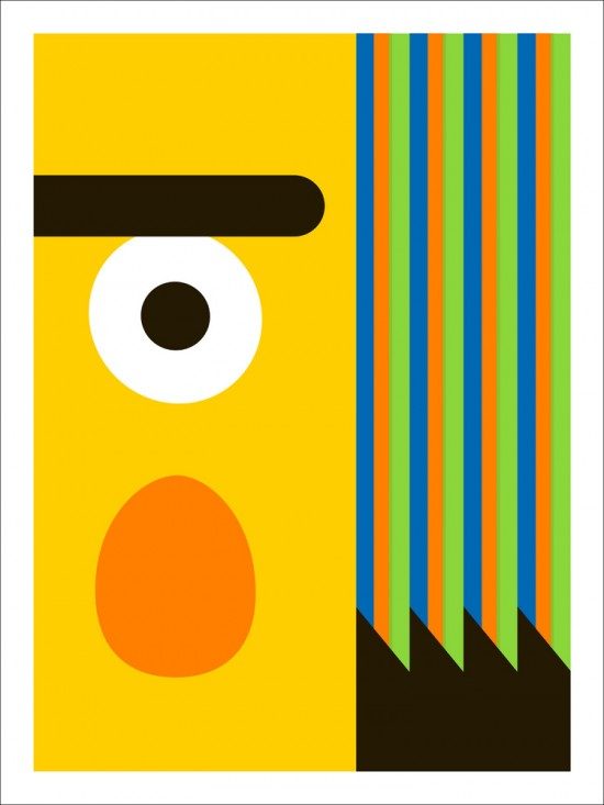 Modern Art Print of Bert from Sesame Street