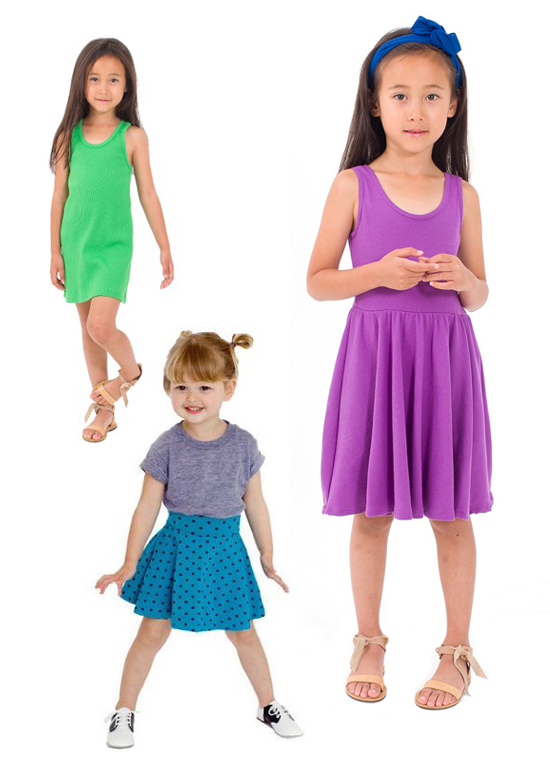 Ameriacn Apparel Fashion - Hip modern classics for your kids play clothes this summer