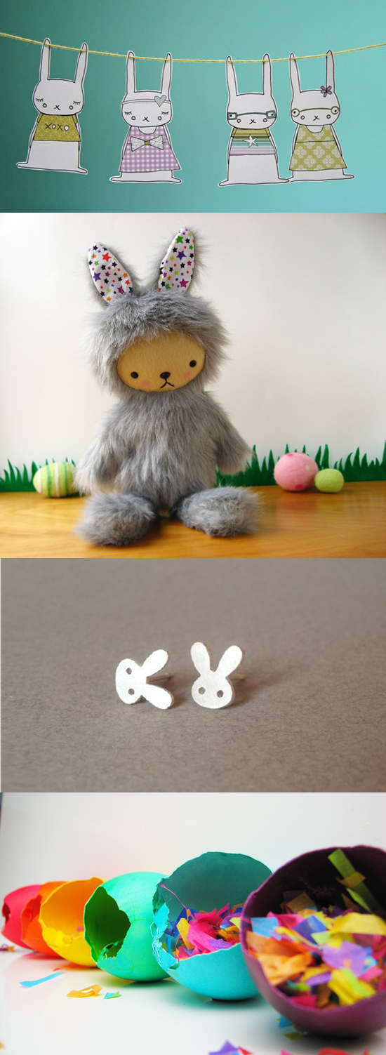 handmade Easter Bunny gifts and surprises for Spring
