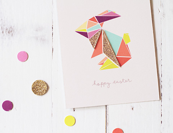 Origami Easter Bunny Printable Download