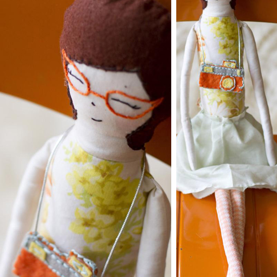 Retro upcycled handmade modern dolls with tattoos - Charlie & Nell