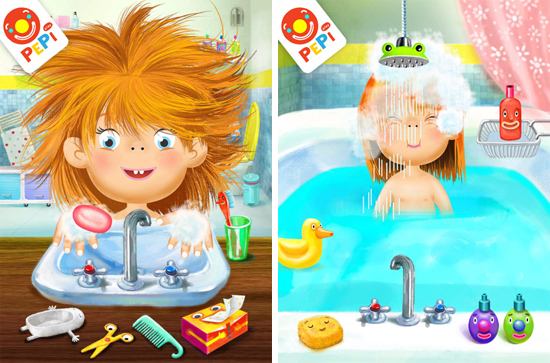 Pepi Bath iPad and iPhone App for toddlers and preschoolers