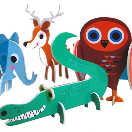 character and animal parade retro mod illustrated DIY Puzzle Kits