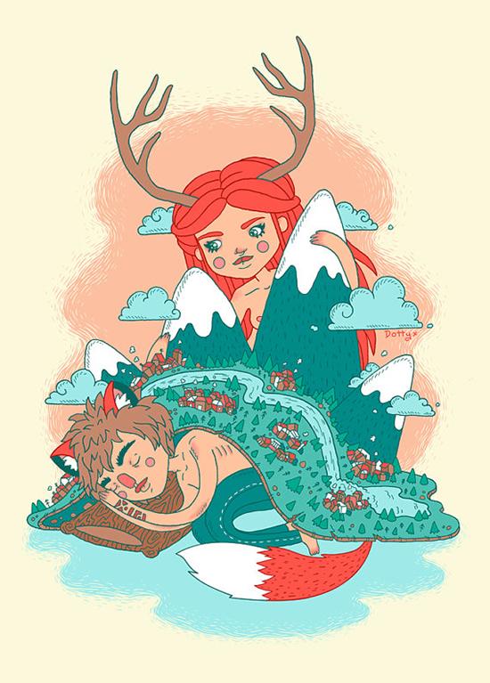 Cute Finding Fox Friend Nursery Wall Art Decor from illustrator Lauren Carney on Etsy