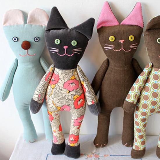 Handmade Corduroy Cats Rising Late On Etsy Unique