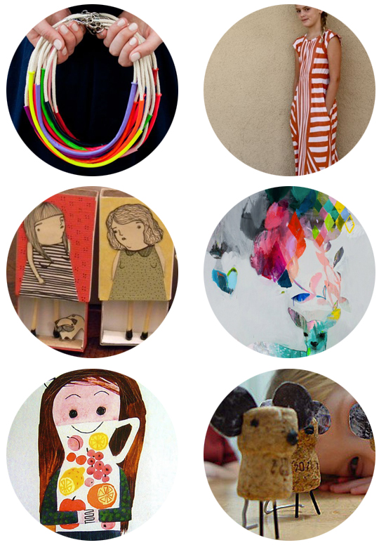 PInterest finds of the week - balloon necklaces, maxi dress pattern, children's illustration, Mary Blair, paintings, and DIY Cork Mouse