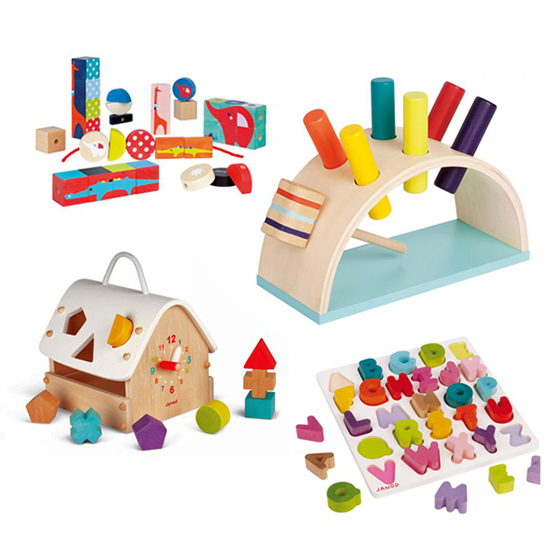 Modern Designer European Wooden Toys from French Toy Company Janod