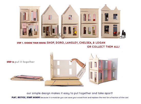 Lille huset diy dollhouses modern wooden creative house for Big modern dollhouse