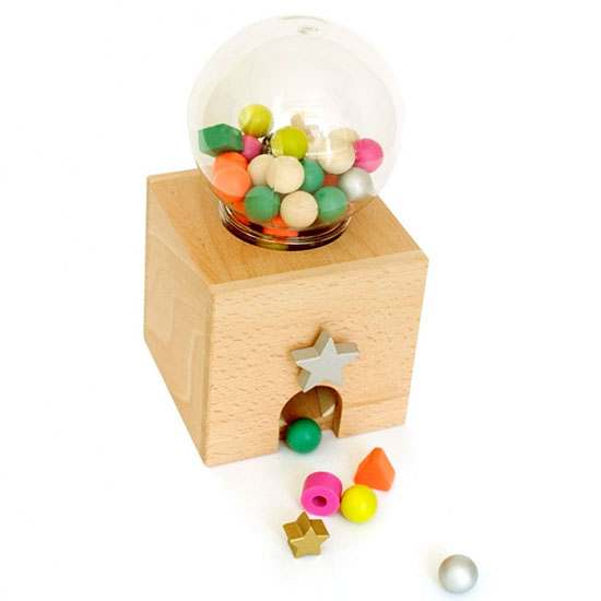 Shiomi and Kiko+ wooden Japanese toys - gumball machine for kids