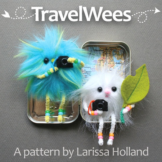 Travel Wees - mmmcrafts handmade sewing pattersn and diy tutorials for stuffed toys and dolls on etsy