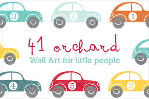 41 Orchard Modern Design Wall Graphic Decal Sticker Art Decor for Nurseries and Home