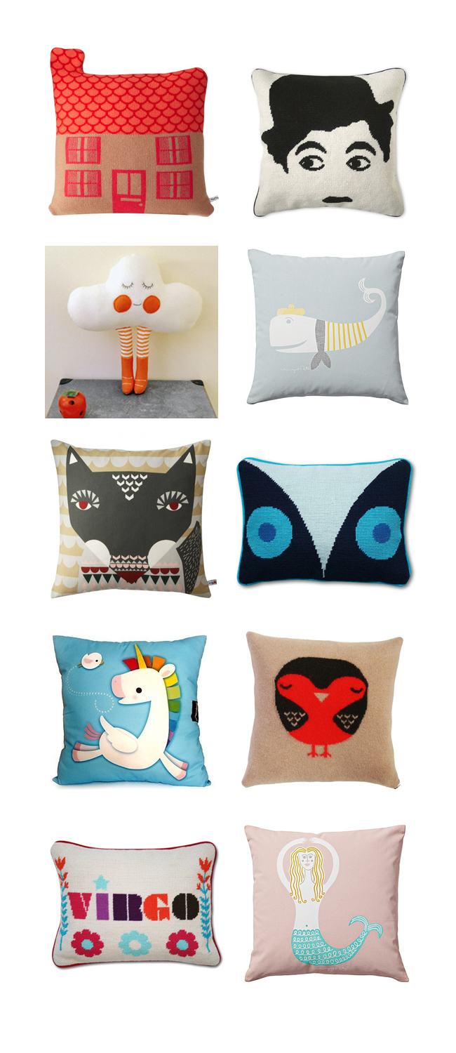 Best Pillows for kids and tweens bedrooms - playful modern designs