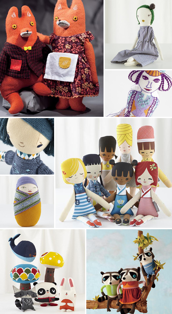Land of Nod exclusive holiday collection of dolls and toys from indie designers