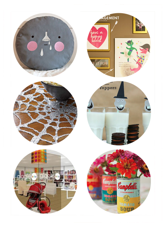 Top Links this week: kids decor and pillows, halloween diy, giggle store at jcpenney