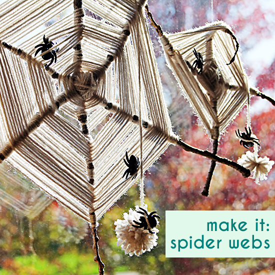diy halloween crafts for kids gods eye spider webs with yarn sticks and