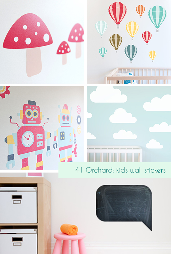 41 Orchard Kids Wall Stickers and Nursery Art Decor for Children