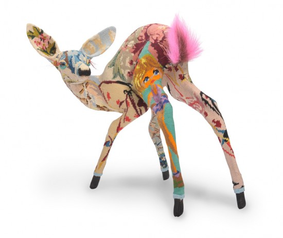 Frederique Morrel Sculptural Animals covered in vintage tapestries on Trendland