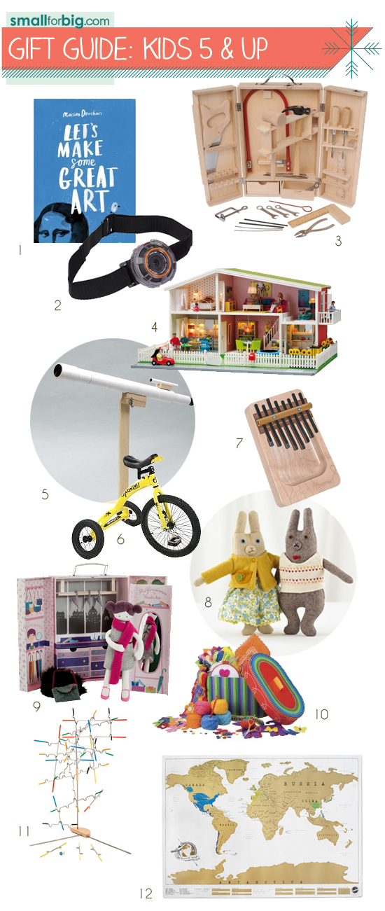 Best unique modern Toys and Gifts for Kids and tweens over 5 years old in Small for Big's Annual Gift Guides
