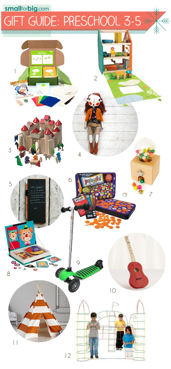 Small for Big Gift Guides - Top 12 Gifts for Preschool Pre-K Boys, Girls, and Kids
