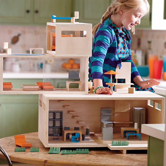 Hoping and dreaming of a better world are not enou by for Big modern dollhouse