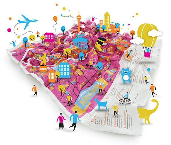 Crumpled City Junior maps for kids