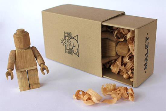 Eco-friendly Earth Lego Blocks and Wood Lego Figure