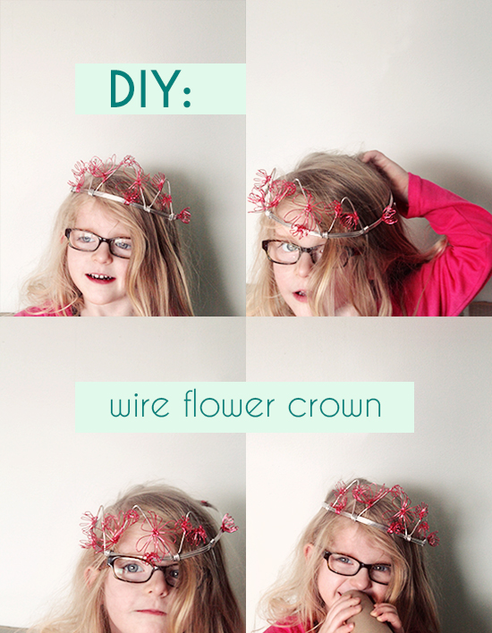 DIY Princess Flower Crown for kids - with wire how-to tutorial