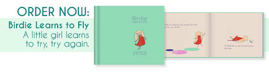 Birdie Learns to Fly Children's Book Written and illustrated by Mari Richards