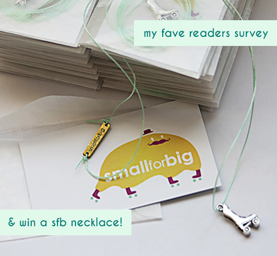Roller Skate Necklace giveaway - Reader survey for Small for Big