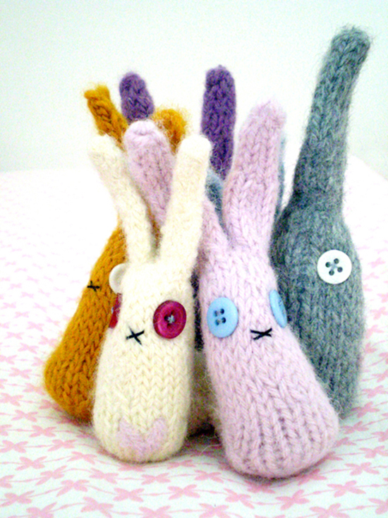 knit bunny pattern and tutorial - top spring knitting and crochet patterns for kids