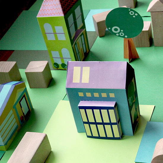 Free printable houses and town from the neighborhood by vivint