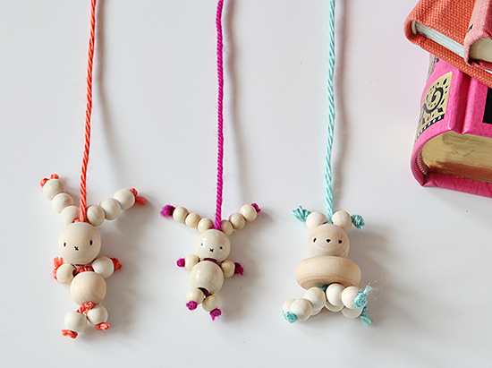 Diy bead bunny bookmarks easter rabbit crafts for kids for Bead craft ideas for kids