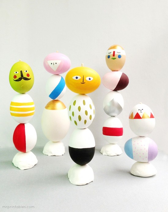 Mr. Printables Egg Totem DIY craft for Easter