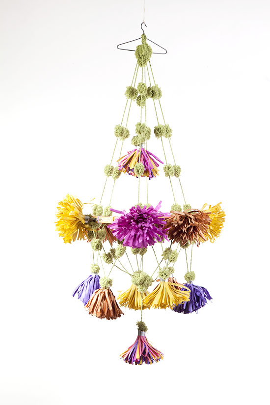 Paper Flower Chandelier from Parcel