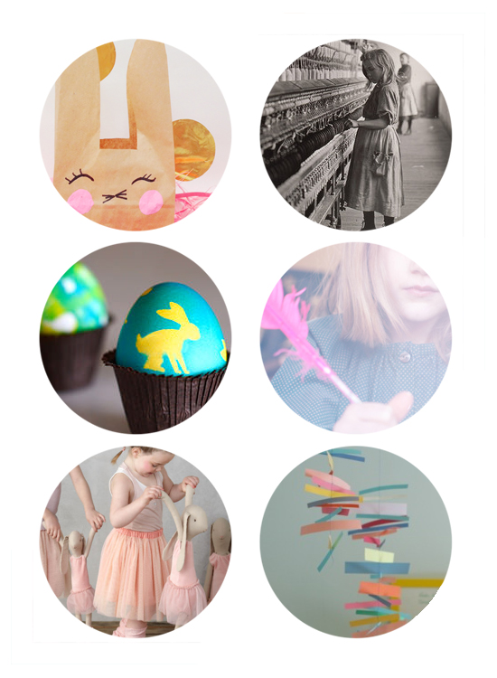 This week's top links include ballerina bunnies, Century of the Child at the MoMA, Easter Egg DIY, Easter Bunny Bag DIY, Pen Pal Program for Kids, DIY paper mobile