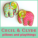 Cecil & Clyde - modern pillows and kids nursery decor from Etsy