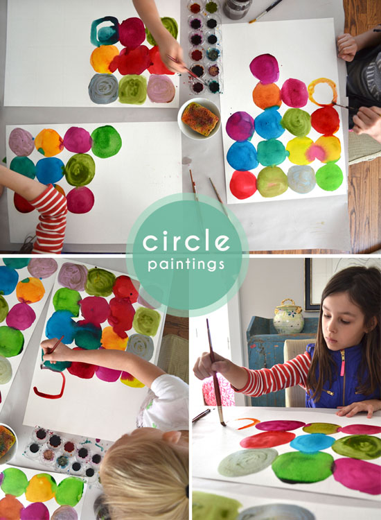 Diy circle painting for kids kandinsky lessons with kids for Watercolor painting and projects