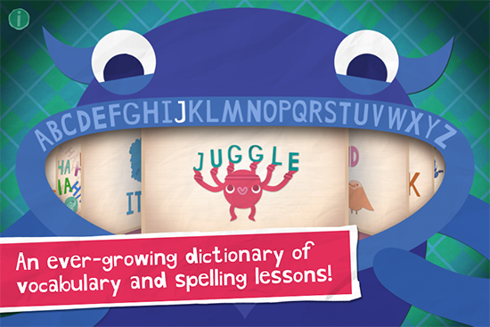 Endless Alphabet Monster App for Kids on the iPhone and iPad