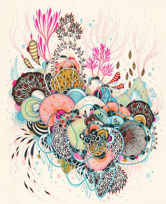 Yellena fanstical flower illustrations, drawings, and art prints on Etsy